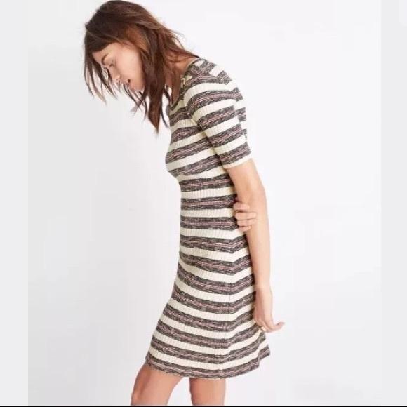 72d0b9bc617 New Madewell bodycon striped dress. NWT